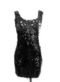 3b923ec0dc8aa Diva Black Sequin Designer Sleeveless Sequin Dress