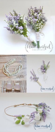 Wildflower rustic wedding with hints of lavenders and purples. Beautifully simple bouquets can be customized and found at Blue Orchid Creations on Etsy along with coordinating jewelry at Joy Katharine: https://www.etsy.com/shop/JoyKatharine?ref=l2-shopheader-name