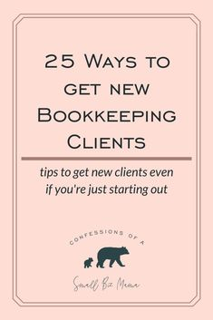 These tips are sure to help you land new bookkeeping clients. 25 ways to land new clients for your at home bookkeeping business. These ways work even when you're just starting out! Opt-in to get your freebie! Bookkeeping Training, Online Bookkeeping, Bookkeeping Business, Business Video, Start Up Business, Business Planning, Business Tips, Work From Home Opportunities, Employment Opportunities
