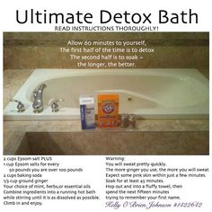Ultimate Detox Bath: Young Living Oils by Kelly O'Brien Johnson Young Living Oils, Young Living Essential Oils, Health Remedies, Home Remedies, Natural Remedies, Holistic Remedies, Health And Beauty Tips, Health And Wellness, Mental Health