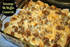 Skip the drive-through this morning and eat at home instead with this Sausage McMuffin Casserole.