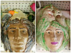 Plaster Faces wall hangings
