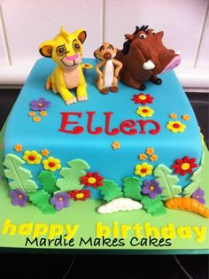 Disney Themed Cakes - The Lion King Lion Guard Birthday Cake, Lion King Birthday, Lion King Theme, Lion King Party, Disney Themed Cakes, Disney Cakes, Lion King Cupcakes, Jungle Theme Cakes, Pumba