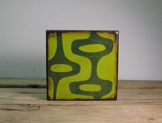 Mid Century Modern Abstract Atomic Art BlockGreen and by MatchBlox, $29.00