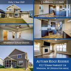 🏠Open House: Sun 10/8/17, 11 AM - 2 PM | MADISON, WI 53562 (Middleton area) Autumn Ridge Reserve — 3 Bedrooms, 2.5 Baths: Wonderful home that's only a year old and features granite counters, screened porch, open floor plan, and much more. The best part of the home is the location with Middleton Schools, close to shopping, and great restaurants. Homes in this neighborhood do not last long so make an appointment to see this one today! #TimRoehl #1815458 #middletonwi