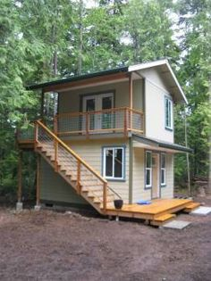 Small Home Construction, Port Angeles firm Tiny Cabins, Tiny House Cabin, Cottage House Plans, Cabins And Cottages, Tiny House Living, Cottage Homes, Garden Cottage, Micro House Plans, Small House Plans