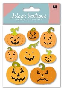 Holidays > Halloween > Pumpkins 3D Stickers - Jolee's Boutique: Stickers Galore Cool Stickers, Card Maker, Holidays Halloween, Halloween Pumpkins, Scrapbooking, 3d, Boutique, Cards, Halloween Gourds
