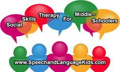 This post is all about working on social skills in speech therapy for children in middle school (grades 6-8). Skills to Target: Topic Maintenance Announcing Topic Shifts Not talking too much (ask the other person questions) Responding to others with relevant information Not asking personal questions Keeping secrets and respecting someone's privacy Including enough information for