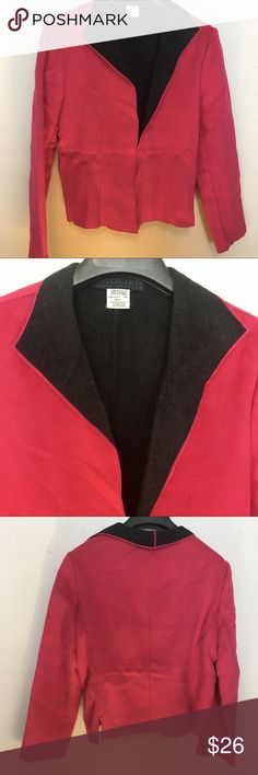 Harve Benard Collection Wool Jacket / Size 14 Lovely hot pink color. Warm comfortable wool.      Thank you SO much for visiting my Posh Closet.    I will have SO many new exciting things being listed this week!  No matter whether you are looking for dainty minimal designs, leather, elegant, Lacey, Boho, peasant, sportswear, career or shoes ( boots, heels, tennis shoes ). It all will be here in my closet so please check out what else is here.  Offers & bundles ALWAYS welcome!  D1 2/7 Harve…