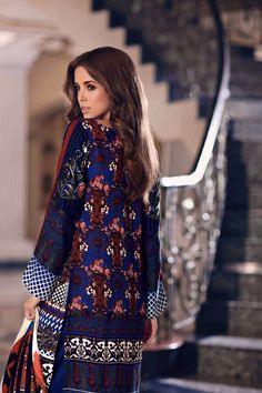 155467ffddd Unstitched 3 Piece Woolen Pakistani Designer Wear Dress On Sale For Free  Online Shopping To Buy Online By Gul Ahmed Winter Collection 2017 At A Best  Price.