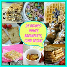 23 recipes inspired by your favorite 90's breakfasts! Lucky charms and all! #breakfast #vegan