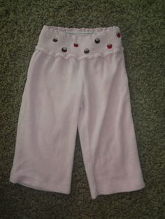 BABY-GIRLS-SIZE-12-18-MONTHS-PINK-VELVET-GYMBOREE-PANTS-SWEETS-CUPCAKES-CHOCOLAT