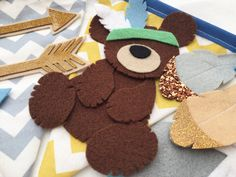 A personal favourite from my Etsy shop https://www.etsy.com/uk/listing/505730780/mountain-bear-nursery-bunting-decoration
