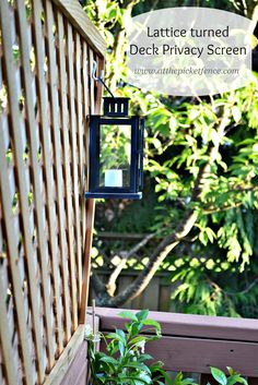 At The Picket Fence: Lattice turned Deck Privacy Screen