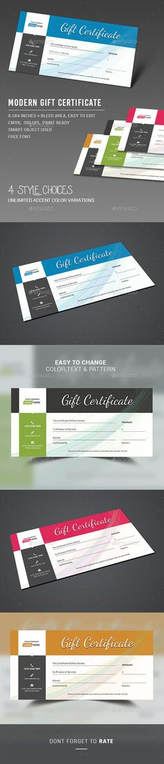 Gift Certificate Template PSD. Download here: http://graphicriver.net/item/gift-certificate/13374318?ref=ksioks