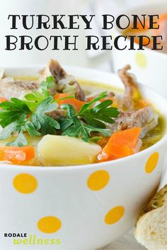 Give your Thanksgiving leftovers a new life with this turkey bone broth recipe. | RodaleWellness.com