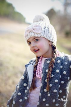 Cozy accessories #chasinivy #joyfolie Girls Accessories, Beautiful Babies, Cute Kids, Girl Fashion, Winter Hats, Crochet Hats, Cozy, Angels, Women's Work Fashion