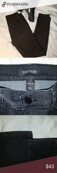 WHBM rhinestone skinny jeans LIKE NEW extra small black skinny jeans with black rhinestones White House Black Market Jeans Skinny