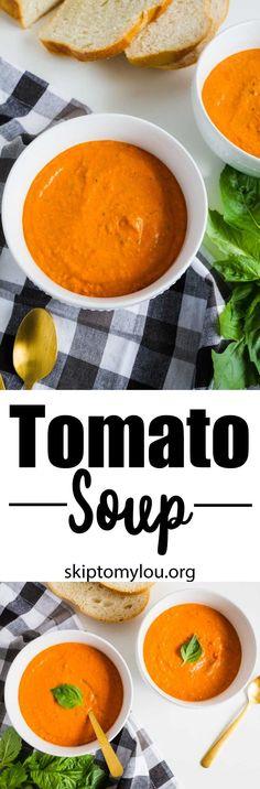 The BEST homemade tomato soup recipe ever! #recipes #soup
