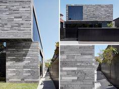 B.E Architecture design a house in Melbourne, Australia covered in lava stone.