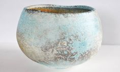 Jack Doherty, porcelain slip with copper carbonate on porcelain body, soda fired, oxidation
