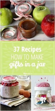 You'll love these homemade gifts in a jar recipes are easy and cheap to make! {squeal in delight} via You'll love these 37 Homemade gifts in a jar recipes are easy and cheap to make! Food Gifts, Craft Gifts, Diy Gifts, Homemade Christmas Gifts, Homemade Gifts, Holiday Gifts, Christmas Crafts, Christmas Goodies, Christmas 2016