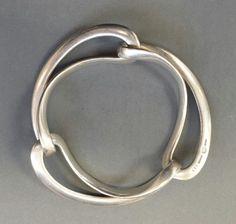 Vintage Georg Jensen Sterling 925 Silver Infinity Bracelet, Design #452, Denmark #GeorgJensen #Bangle