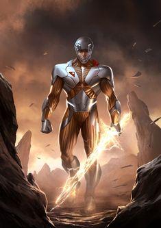 A nice image of the revived X-O Manowar (Valiant Comics)