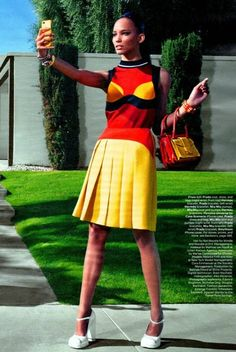 """""""Selfie Absorbed"""" by Emma Summerton for W Magazine March 2014"""