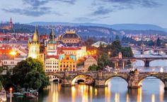 Prague - Charles bridge at night - Tomas Sereda. Czech.