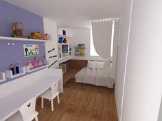 Quarto de Menina. Projeto: Escritório de Arquitetura Servino e Assed Renderização: Estúdioi - Desenhos em 3D e Renderização de Imagens para Arquitetura