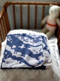 diy tie dye bleach swaddle blanket