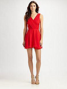 Shoshanna Silk Chiffon Noelle Dress