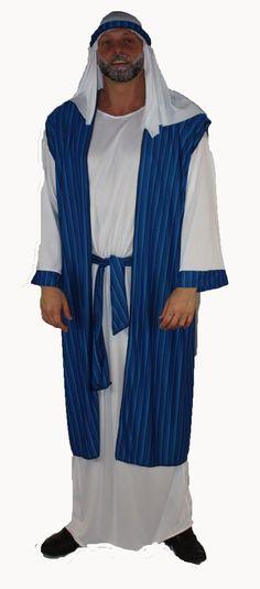 XXL Plus Size Arab Deluxe Blue/Black Striped Arabian Prince Robes Fancy Dress