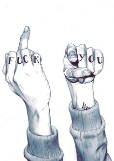 """Fuck you"" Illustration by David Pérez and really this is ART Illustrations, Illustration Art, Landscape Illustration, Arte Pop, Mail Art, Art Drawings, Art Photography, Techno, Sketches"
