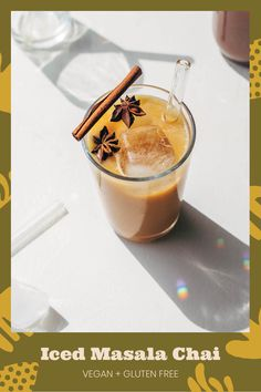 ICED MASALA CHAI This Iced Masala Chai concentrate is spiced with cinnamon, cardamom, cloves, and ginger.