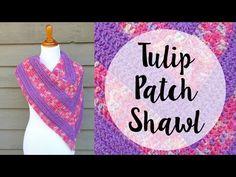 Fiber Flux: Free Crochet Pattern...Tulip Patch Shawl!