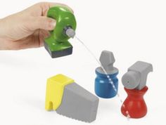12 CONSTRUCTION TOOL WATER SQUIRT/Bath Toy Favor/Birthday Party/Drill/Dump Truck