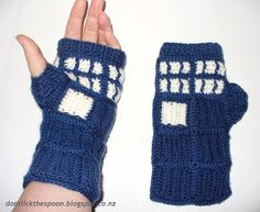 Don't Lick The Spoon: T.A.R.D.I.S. - Inspired Fingerless Gloves