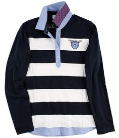 #Rugby-Polo maritim Polo Rugby Shirt, Rugby Shirts, Damen Sweatshirts, Trends, Winter, Clothing, Mens Tops, T Shirt, Fashion