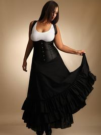 She had style and class, commanding the room with her confidence and beauty. He was certain that tonight she would be his. Racer Back Corset. Turn heads and take hearts with this sultry satin underbust corset. Corset has a l Fashion Moda, Curvy Fashion, Plus Size Fashion, Girl Fashion, Mode Steampunk, Steampunk Fashion, Steampunk Costume, Steampunk Corset, Victorian Steampunk