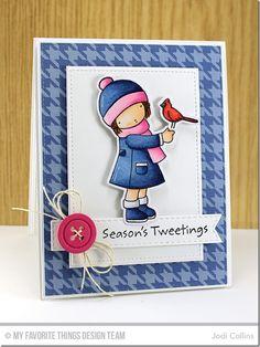 Season's Tweetings, Button Quartet Die-namics, Stitched Fishtail Flags STAX Die-namics, Stitched Rectangle STAX Die-namics, Season's Tweetings Die-namics - Jodi Collins  #mftstamps