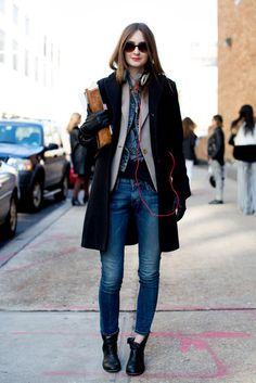 "This year it's all about the layers! Layer on layer on! ""Street Style Pictures 