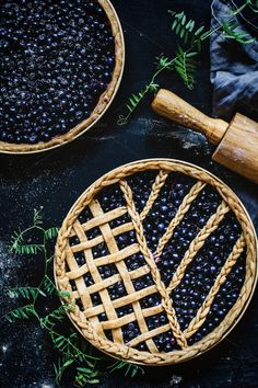 Blueberry pies by The baking man on @creativemarket