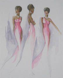 Dreamgirls sketch by Theoni V. Aldredge
