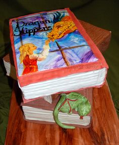 Domestic Sugar: Book Cake: Dragon Slippers