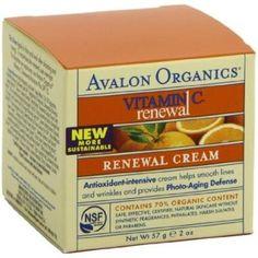 Avalon Organics Vitamin C Renewal Facial Cream -- 2 oz Avalon Organics Renewal Facial Cream Vitamin C 2