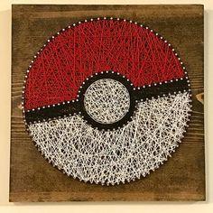 Pokemon Pokeball String Art by shopstringsattached on Etsy
