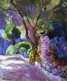 The Athenaeum - Picking Flowers (Henri Lebasque - )1923