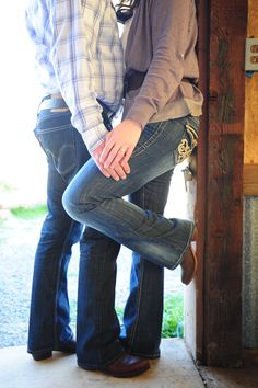 Country Style Engagement Photos